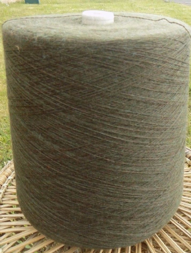 Knitting Machine Yarn 2/30 2 Kilos Wool / Acrylic Mix Green/Brown Mix IND23.03